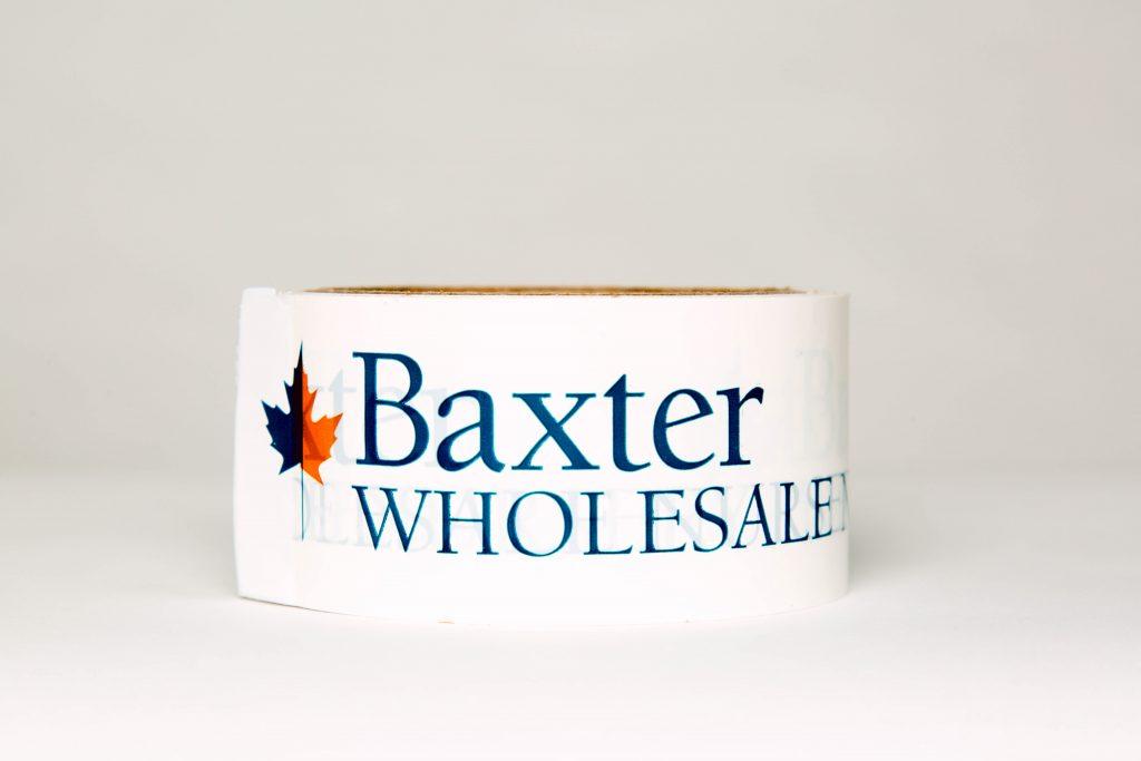 Baxter Wholesale logo tape