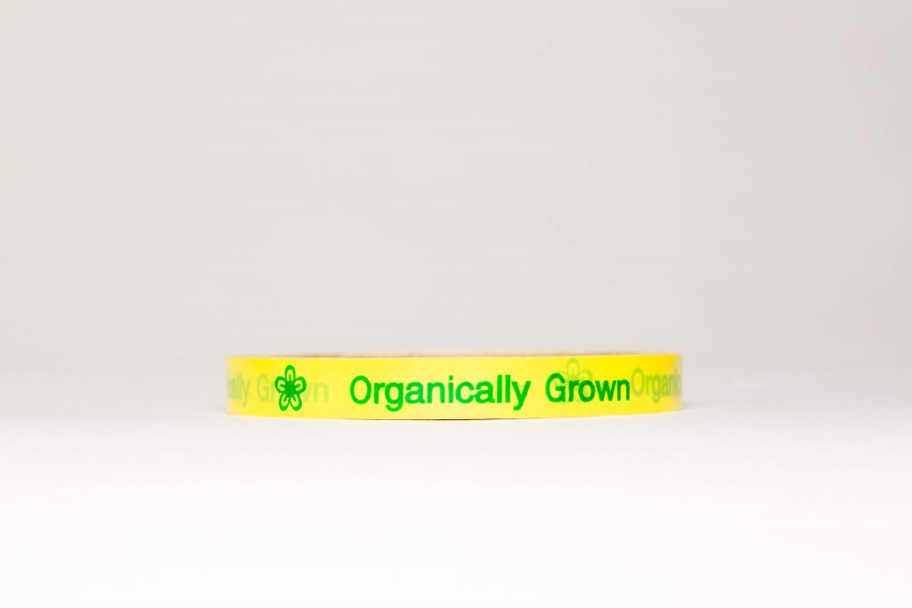 Yellow tape Organically Grown