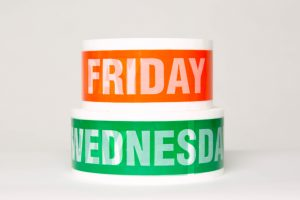 Tape with Friday and wednesday