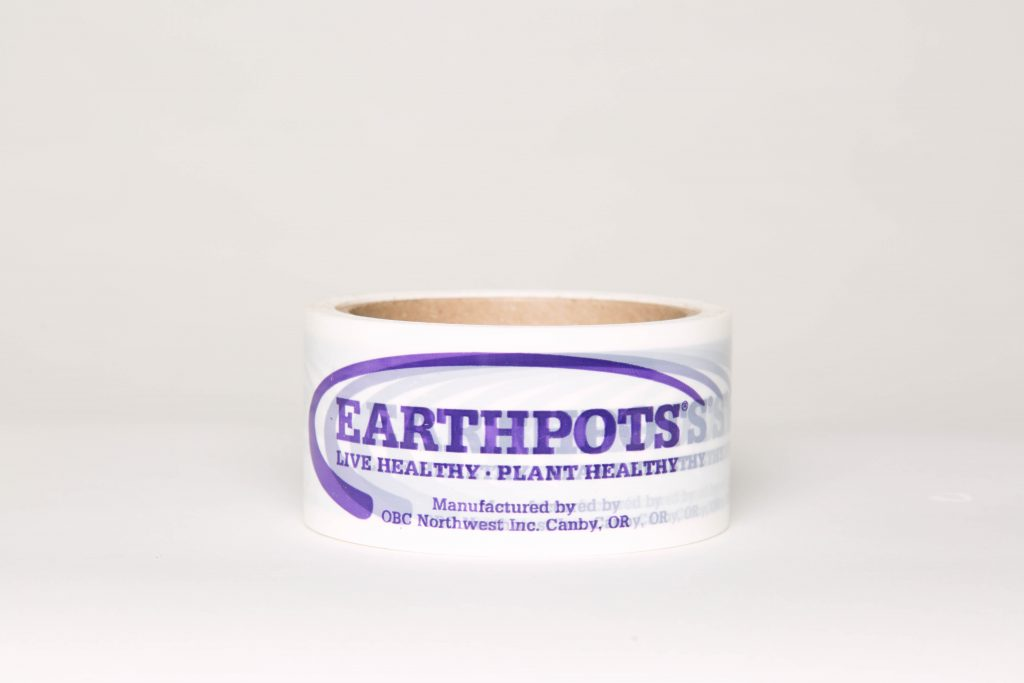 Earthpots logo tape