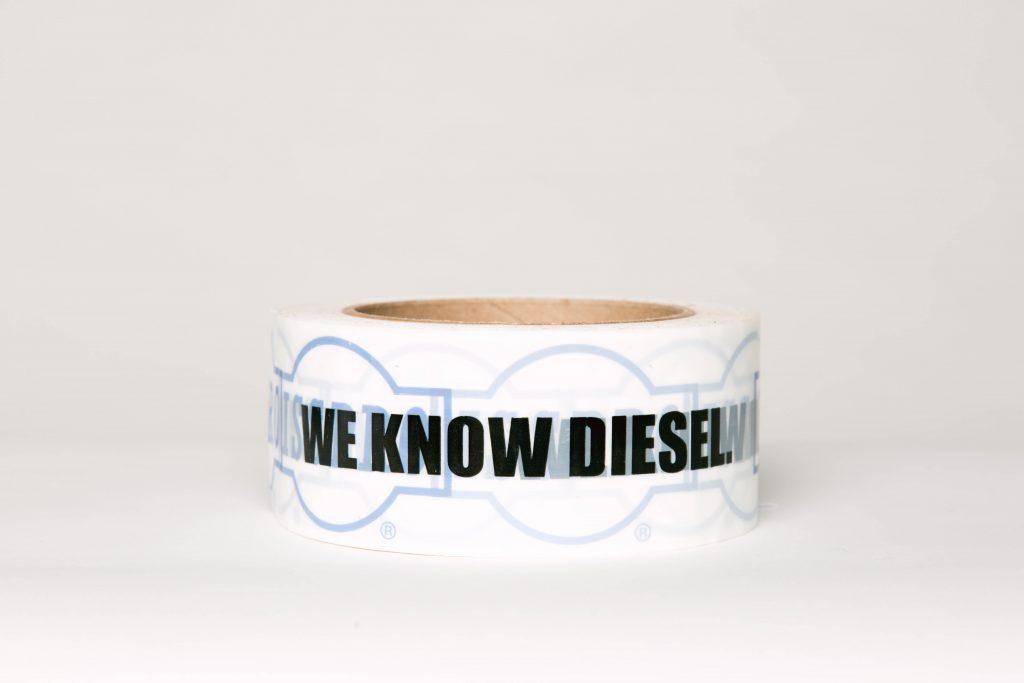 We know diesel logo tape