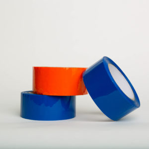 Non-Printed Tape/Hot Melt or Acrylic Adhesive 3 rolls 2 blue and one orange